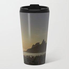 Sunset at Ipanema Beach Travel Mug