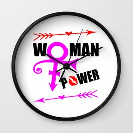 woman power funny feminist quote Wall Clock