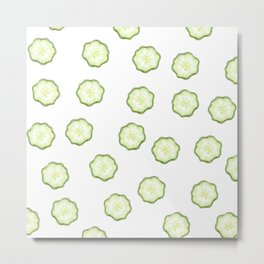 cucumber sllice Metal Print