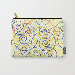 psychedelic Art 03 yellow Carry-All Pouch