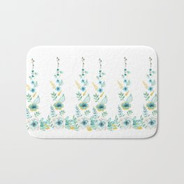 Blue Floral Twist Bath Mat
