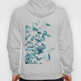 Mint and Blue Eucalyptus branches Hoody