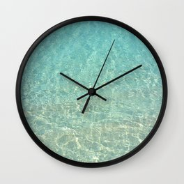 Colors of the Sea Water - Clear Turquoise Wall Clock