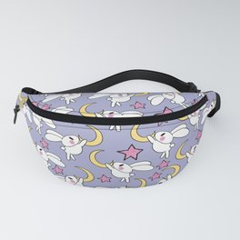 Cute Bunny Hanging on the Moon Fanny Pack