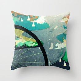Green Commute Throw Pillow