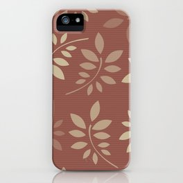 Scattered Leaves iPhone Case