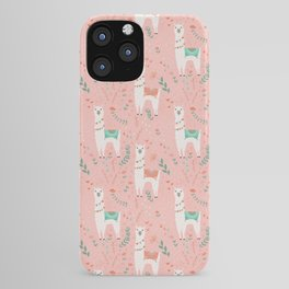 Lovely Llama on Pink iPhone Case