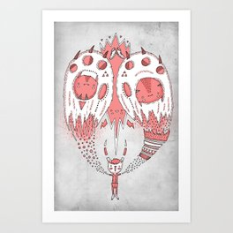 With open arms Art Print
