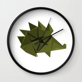 Origami Hedgehog Wall Clock