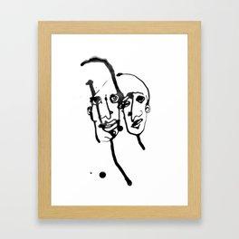 FACES / 019 Framed Art Print