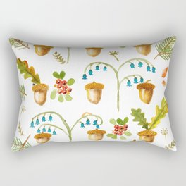 Acorns and Harebells Rectangular Pillow