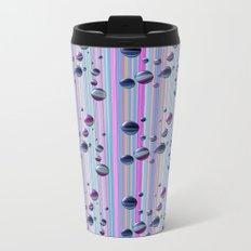Сolored bubbles and stripes Metal Travel Mug