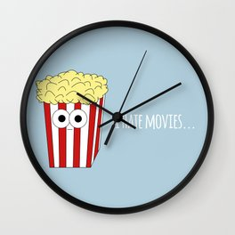 I HATE MOVIES Wall Clock