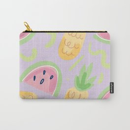 Pineapple & Watermelon Fun Pattern Carry-All Pouch