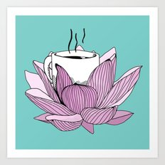 Lotus coffee Art Print