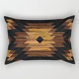 Urban Tribal Pattern 7 - Aztec - Wood Rectangular Pillow