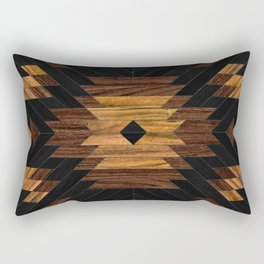 Urban Tribal Pattern No.7 - Aztec - Wood Rectangular Pillow