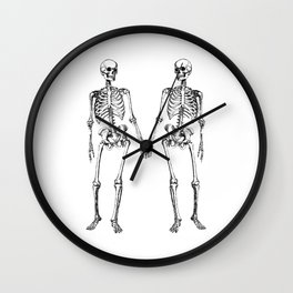 Two skeletons Wall Clock