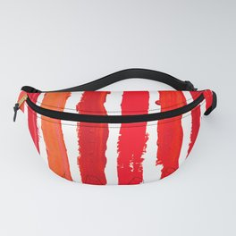 Lipstick Stripes - Red Shades Fanny Pack