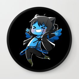 Chibi Luc (Expression 2) w/ Black Background Wall Clock
