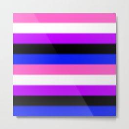 Genderfluid Pride Flag v2 Metal Print