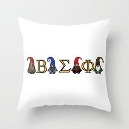 ΒΣΦ Christmas Gnomes on White (BSP) Throw Pillow