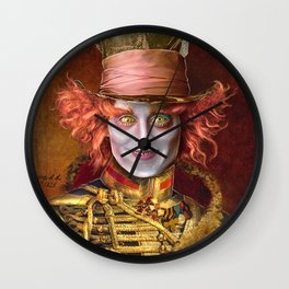 Mad Hatter General Portrait Painting Fan Art Wall Clock