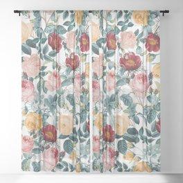 Vintage garden VI Sheer Curtain