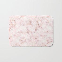 Blush Pink Abstract Marble Pattern Bath Mat