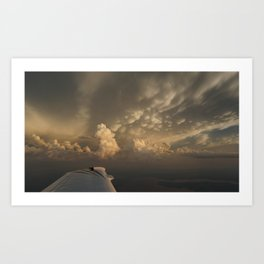 A wing and a cloud Art Print