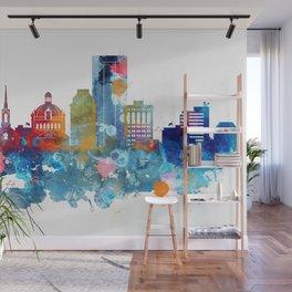 Colorful watercolor Lexington skyline Wall Mural