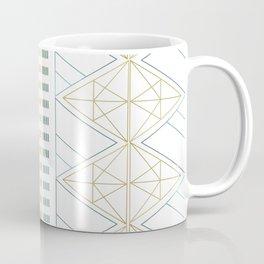 Gold Aqua Geometric Pattern 1.0 Coffee Mug