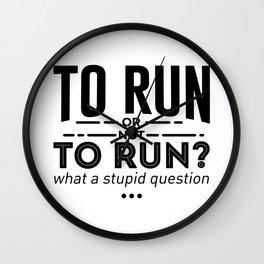 Runners Run Running Is Life Design Wall Clock