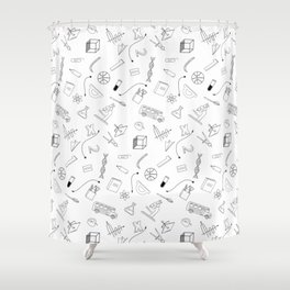 School pattern Shower Curtain