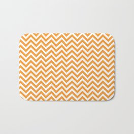 orange chevron Bath Mat