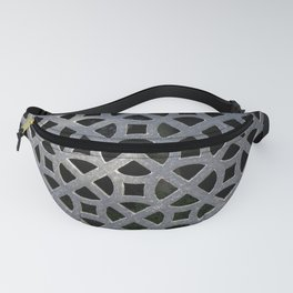 ORNATE VINTAGE GREY GRILLE ABSTRACT Fanny Pack