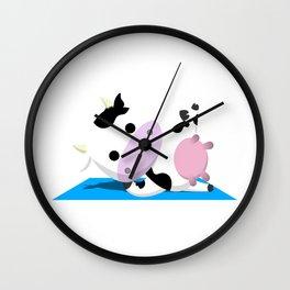 TeeTee - The Aerobic Cow #03 Wall Clock