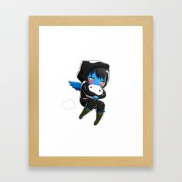 Fuzzy Chibi Luc (Expression 2) Framed Art Print