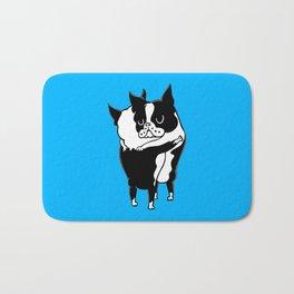 Boston Terrier Hugs Bath Mat