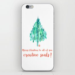 Merry Christmas to all of you, creative souls! iPhone Skin