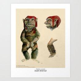 Nain Rouge Art Print