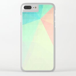 Pastel Candy Geometry Clear iPhone Case