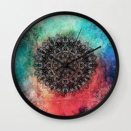 Higher Cosmic Vibrations Mandala Wall Clock