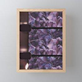 8mm vintage film strip Purple Geranium  Framed Mini Art Print