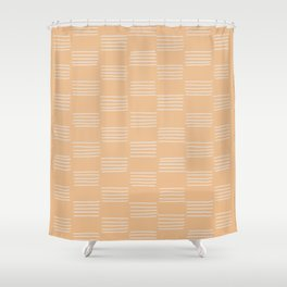 hatches – small peach Shower Curtain