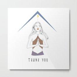 Thank you Metal Print