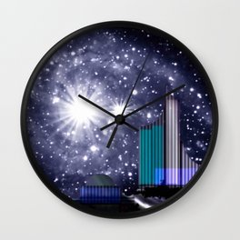 Wonderful starry night. Wall Clock