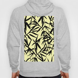 Yellow And Black, Watercolor Bamboo Seamless Pattern Hoody