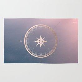 The Edge of Tomorrow - Rosegold Compass Rug