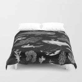 Dangers of the Deep Unknown Duvet Cover